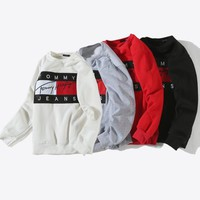 Tommy Hilfiger Fashion Long Sleeve Pullover Sweatshirt Top Sweater