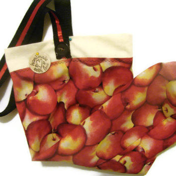 Fabric Plastic Bag Holder/ Grocery Bag Holder/ Apples/ Apple Grocery Bag Holder