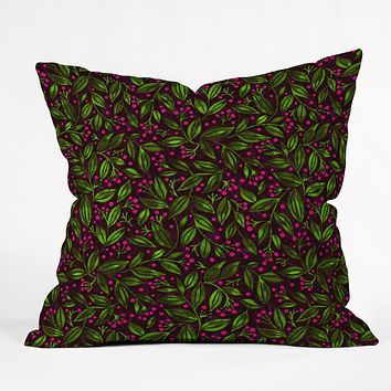 Wagner Campelo Berries And Leaves 2 Throw Pillow