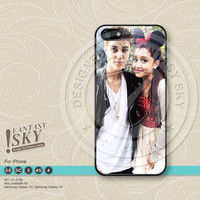 Justin bieber Ariana Grande, iPhone Case iPhone 5 case iPhone 5C Case iPhone 5S case iPhone 4 Case Phone Cases - FS0760