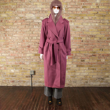 interlude wool oversized coat / long wool coat / mauve / colorblock / statement coat / menswear inspired / wool overcoat / long wool jacket