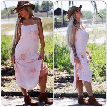 sunflower maxi dress, Boho free spirit sundress, all people dyed clothing, True rebel clothing