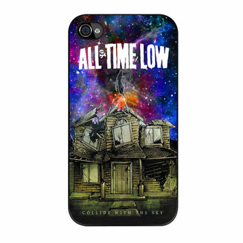 Pierce The Veil Band All Time Low Poster Galaxy Parody iPhone 4 Case