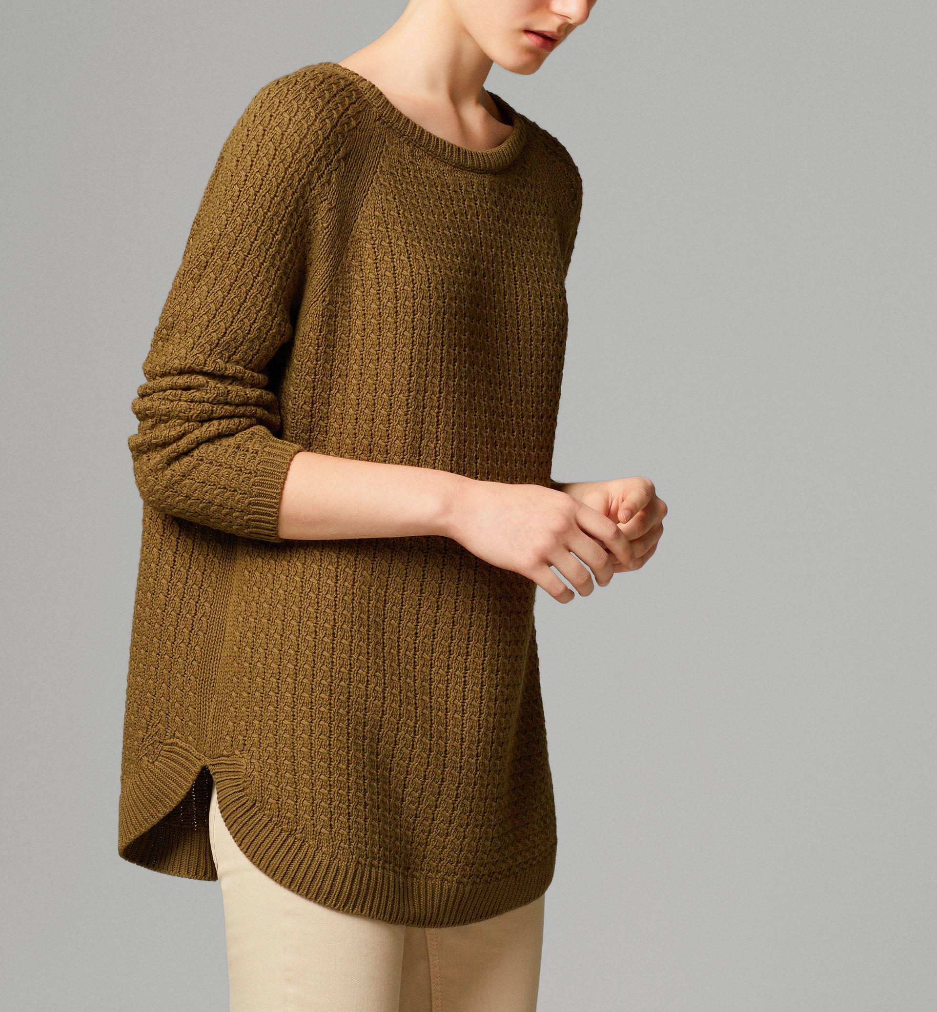 cableknit cape sweater sweaters amp from massimo dutti