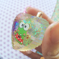 Super Kawaii Glittery Resin Pendant Necklace