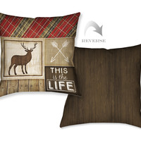 Country Cabin IV Decorative Pillow