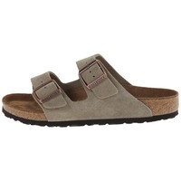 Birkenstock Men's Arizona Birka-Flor Taupe Suede Sandals (R)