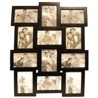 """4"""" x 6"""" Black Collage Frame with 12-Openings 