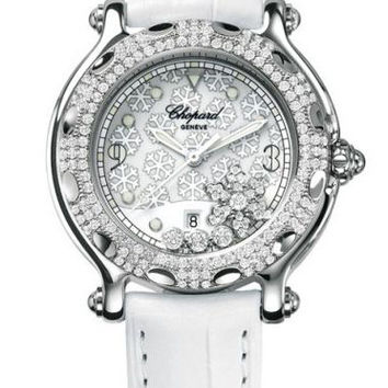 Chopard - Happy Sport Snowflakes - Stainless Steel and White Gold with Diamonds