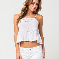 FULL TILT Crochet Womens Swing Tank | Tanks