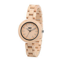 WeWOOD Mimosa Beige Wooden Maple Wood Quartz Analog Round Women's Watch