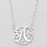 Variety Of Monogram Necklaces