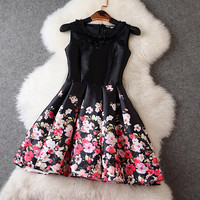 Floral Dress in Black