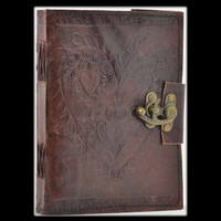 Celtic Heart Genuine Leather Blank Journal with Latch