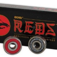 Bones Reds Bearings Quantity 16 Pack Size 7mm Quad, Derby, Roller Skate
