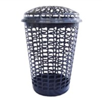 Tall Round Laundry Hamper - Black College Wash Clothes Laundry Supplies Cheap Basket Essentials List