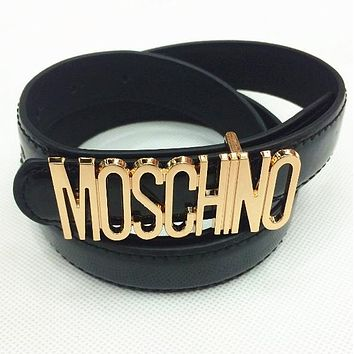 Day-First™ MOSCHINO letters Belt fashion wild candy candy belt