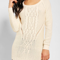 Silence + Noise Cable-Knit Bodycon Dress - Urban Outfitters