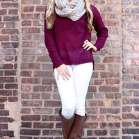 See Right Through Me Sweater - Burgundy
