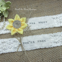 Monogrammed Sunflower Wedding Garter Set,Rustic Country Chic Wedding Garter Set,Keepsake & Toss garter Set