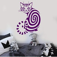 Vinyl Wall Decal Cheshire Cat Animal Children's Room Nursery Stickers Unique Gift (093ig)