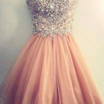 CUTE FULL RHINESTONE DRESS