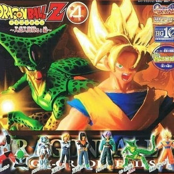 Bandai Dragon Ball Z DBZ Gashapon HG Part 4 7 Mini Trading Figure Set