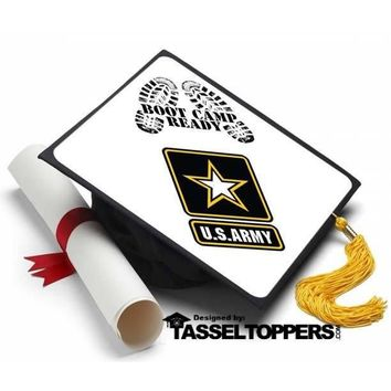 Army Boot Camp Ready Grad Cap Tassel Topper