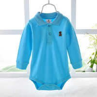 Long Sleeve Baby Boys Bodysuits Top Quality 6-24month  baby boy clothes fashion polo shirt for baby jumpsuit