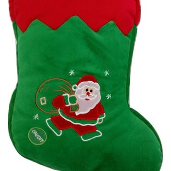 Tache Cute Christmas Lights Santa Stocking Microbead LED Throw Pillow