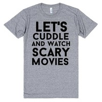 let's cuddle and watch scary movies halloween