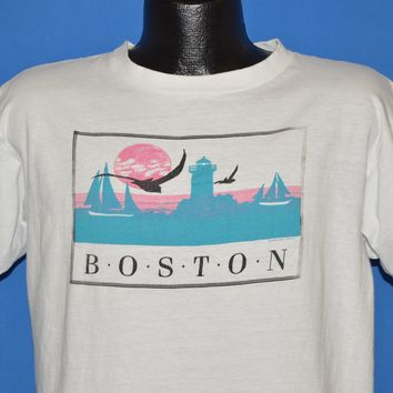 80s Boston Harbor Lighthouse Tourist t-shirt Large