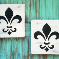 Shabby Chic Home Wall Decorations Black White Rustic Cottage Chic Fleur De Lis French Paris Art Home Decor