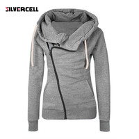Women Sweatshirts Solid Color Hooded Jacket Long Sleeve Women's Hoodie Zipper Fall Winter Women Coat