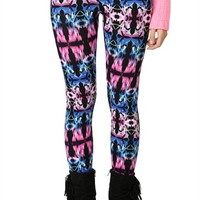 Multicolor Abstract Print Legging