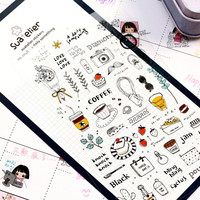 A Daily Something Decorative Sticker Set Diary Album Label Sticker DIY Scrapbooking Stationery Stickers Escolar