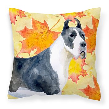 Harlequin Great Dane Fall Fabric Decorative Pillow BB9904PW1414