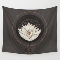 Lotus Wall Tapestry by Hector Mansilla