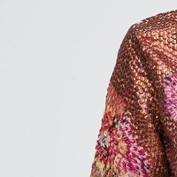 ASOS Premium Jacket In All Over Sequin and Floral at asos.com