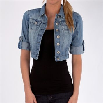 Highway Jeans Juniors Cropped Denim Jacket at Von Maur