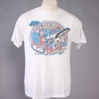 Vintage 80s BMX T-SHIRT / 1980s Silver Dollar Nationals Dirt Bike Tee Tshirt Soft Thin S - M