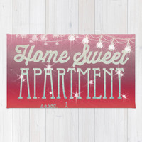 Home Sweet Apartment - Sunset Version Rug by Jenndalyn
