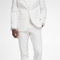 WHITE COTTON SATEEN PHOTOGRAPHER SUIT