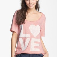 Project Social T 'Love' Graphic Tee (Juniors) | Nordstrom