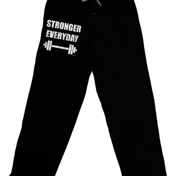Stronger Everyday Gym Workout Adult Lounge Pants - Black