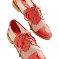 ModCloth Menswear Inspired Monarch de Triomphe Flat in Red