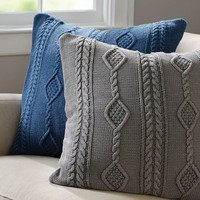 DIAMOND KNIT PILLOW COVER