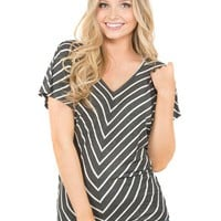 Vanity Women's Jersey Striped Dolman Basic