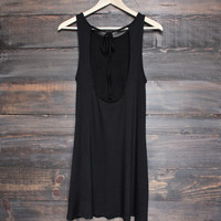 BSIC - solid jersey open back swing dress with pockets - black
