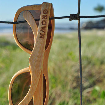 Stained Bamboo Sunglasses 'Kicker' style